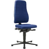 Bureaustoel All-in-One 9640, met glijder, stoffen bekleding, blauw