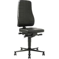 Bureaustoel All-in-One 9643, bekleed met kunstleder, zwart