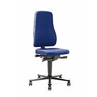 Bureaustoel All-in-One 9643, stoffen bekleding, blauw