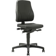 Bureaustoel All-In-One Trend 9633, met wielen, integraalschuim, zwart