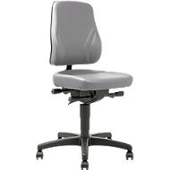 Bureaustoel All-In-One Trend 9633, met wielen, kunstleer, skai grijs