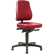 Bureaustoel All-In-One Trend 9633, met wielen, kunstleer, skai rood
