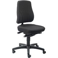 Bureaustoel All-In-One Trend 9633, met wielen, stoffen bekleding, Duotec zwart gemêleerd