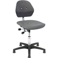 Bureaustoel Solid, kunststof kruisvoet met glijders, 460 - 590 mm