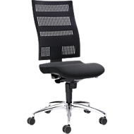 Bureaustoel SSI PROLINE Edition, synchroonmechanisme, zonder armleuningen, gazen rugleuning, ergonomisch gevormde wervelsteun