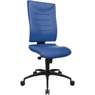 Bureaustoel SSI Proline P1, synchroonmechanisme, zonder armleuningen, lordosesteun & knierol, blauw