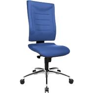 Bureaustoel SSI PROLINE P2, synchroonmechanisme, zonder armleuningen, lendenwervelsteun, knierol, blauw