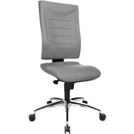 Bureaustoel SSI PROLINE P2, synchroonmechanisme, zonder armleuningen, lendenwervelsteun, knierol, grijs