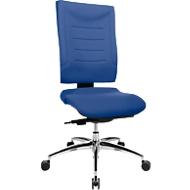 Bureaustoel SSI PROLINE P3, synchroonmechanisme, zonder armleuningen, lendenwervelsteun, ergonomisch gevormde wervelsteun, blauw