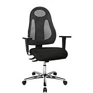 Bureaustoel Topstar FREE ART, synchroonmechanisme, zonder armleuningen, rugleuning met ademend design, antraciet