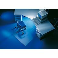 Bureaustoelmat, hoekig met uitsparing, 1200 x 1300 mm