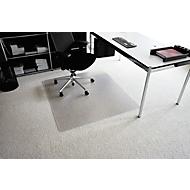 Bureaustoelmat van transparant Makrolon®, 900 x 1200 mm, voor tapijtvloeren