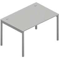 Bureautafel ARLON-OFFICE, B 1200 x D 800 x H 730 mm, lichtgrijs