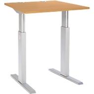 Bureautafel ERGO-T, T-poot, handmatig in hoogte verstelbaar met inbussleutel, B 800 mm, beuken