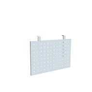 Bureautafel frontpaneel, geschikt voor bureautafels met B 800 mm, geperforeerd paneel, aluminium zilver