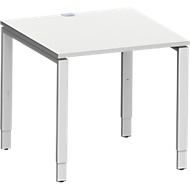 Bureautafel MODENA FLEX, 4-poot rechthoekige buis, 800 x 800 mm, lichtgrijs