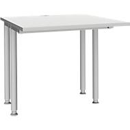 Bureautafel MODENA FLEX, breedte 800 mm, aan beide zijden ingekort, lichtgrijs