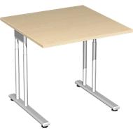 Bureautafel PALENQUE, C-poot, rechthoek, B 800 x D 800 x H 680-820 mm, esdoorn