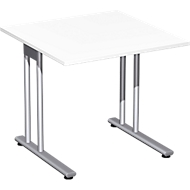 Bureautafel PALENQUE, C-poot, rechthoek, B 800 x D 800 x H 720 mm, wit
