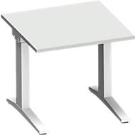 Bureautafel PLANOVA ergoSTYLE, C-poot, rechthoek, handm. in hoogte verstelbaar, B 800 x D 800 x H 675-895 mm, lichtgrijs/wit