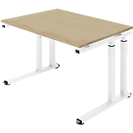 Bureautafel SET UP, C-poot onderstel, 1200x800, eik/wit
