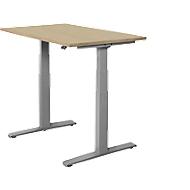 Bureautafel SET UP, T-poot onderstel, elektrisch in hoogte verstelbaar, 1200x800, eiken