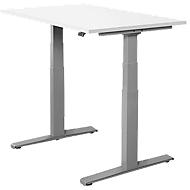 Bureautafel SET UP, T-poot onderstel, elektrisch in hoogte verstelbaar, 1200x800, wit