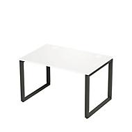 Bureautafel SINCERO LINE, slede onderstel, rechthoek, B 1200 x D 800 mm, wit/grafiet