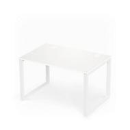 Bureautafel SINCERO LINE, slede onderstel, rechthoek, B 1200 x D 800 mm, wit/wit