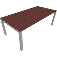 Bureautafel SOLUS, 4-poot, rechthoek, B 1600 x D 800 x H 720-820 mm, esdoorn Brazil