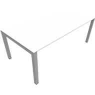 Bureautafel SOLUS PLAY, 4-poot, in hoogte verstelbaar, B 1600 x D 800 x H 720 - 820 mm, wit
