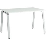 Bureautafel Start Up, A-poot, rechthoek, staal/hout, B 1200 x D 800 x H 735 mm, lichtgrijs