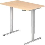 Bureautafel ULM, elektrisch, in hoogte verstelbaar, B 1200 mm, esdoornpatroon