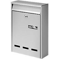 Burg Wächter Briefkasten Pocket, Stahlblech, Einwurf DIN B5, abschließbar, Silber