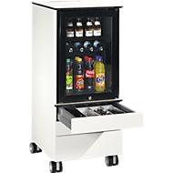 Caddy ASISTO C 3000, mit Kühlschrank, 3 Schubladen, inkl. Schubladeninneneinrichtung, weiß