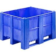 Caisse-palette, construction fermée, 620L, bleu