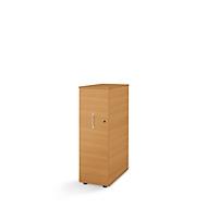 Caisson haut Tetris Wood, 3 tiroirs + 1 plumier, l. 426 x P 803 x H 1296 mm, décor hêtre