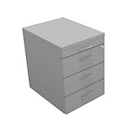 Caisson mobile ARLON-OFFICE, 1 + 3 tiroirs en acier, l. 420 x P 560 x H 585 mm, gris clair