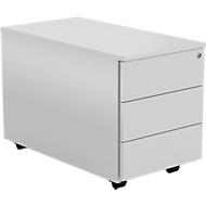 Caisson mobile AXXETO, 3 tiroirs, l. 420 x P 800 x H 540 mm, gris clair