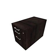 Caisson mobile SOLUS PLAY, 1 tiroir-plumier + 1 tiroir + 1 tiroir à DS, avec poignées, l. 430 x P 777 x H 562 mm, chêne fossile
