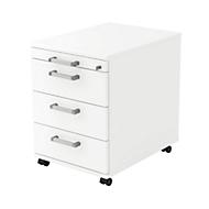 Caisson mobile TARVIS, 1 tiroir-plumier + 3 tiroirs, blanc