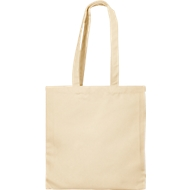 Canvas Tasche, naturfarben, 100 %  Baumwolle, 2 lange Henkel, Werbedruck 220 x 200 mm