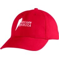 Cap, mit Klettverschluss, rot