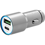 Car Charger Typ-C & USB 3.0, f. 12V-Steckdose, WAB seitlich per Lasergravur 15 x 8 mm
