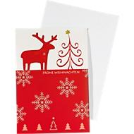 Cartes de Noël «Bodö», 10 pièces + 10 enveloppes