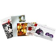 Cartes de Noël «Boules de Noël», 5 x 2 cartes + 10 enveloppes