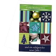 Cartes de Noël «Green Christmas», 10 pièces + 10 enveloppes