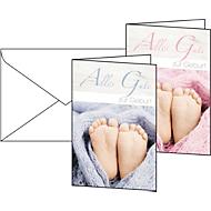 Cartes de vœux «garçons et filles», enveloppes blanches incluses, 10 pièces