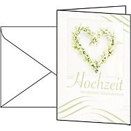 Cartes de vœux «mariage», enveloppes blanches incluses, 10 pièces