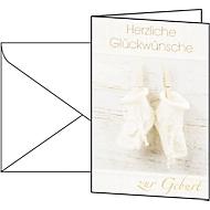 Cartes de vœux «naissance», enveloppes blanches incluses, 10 pièces